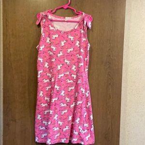 Cute unicorn and rainbow dress. Sz. 10/12 L